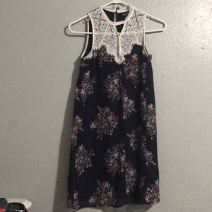 Sequin hearts Blue Floral summer dress xs